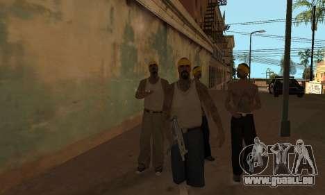 Modifier les zones les gangs et leurs armes v1.1 pour GTA San Andreas deuxième écran