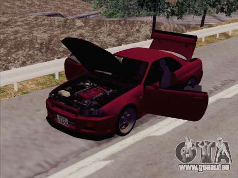 Nissan Skyline GT-R V-Spec (BNR34) für GTA San Andreas linke Ansicht