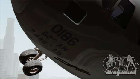 C-17A Globemaster III USAF McChord für GTA San Andreas rechten Ansicht