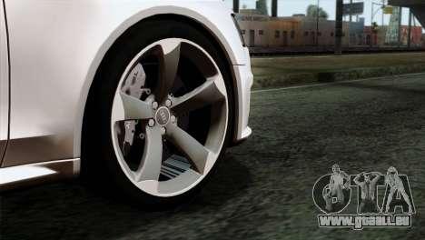Audi RS4 Avant B8 2013 v3.0 pour GTA San Andreas sur la vue arrière gauche