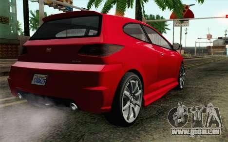 GTA V Dinka Blista für GTA San Andreas linke Ansicht