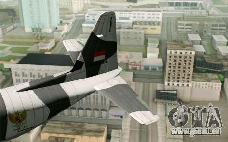 Lockheed C-130 Hercules Indonesian Air Force pour GTA San Andreas sur la vue arrière gauche