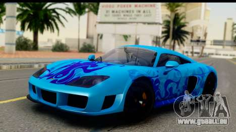 Noble M600 2010 IVF АПП für GTA San Andreas obere Ansicht