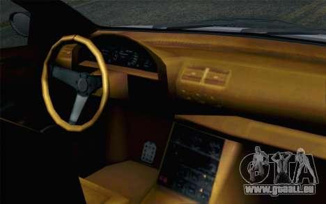 GTA 5 Ubermacht Sentinel XS für GTA San Andreas Rückansicht