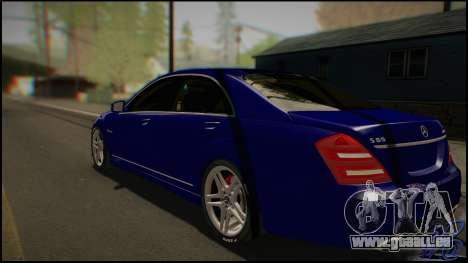 Mercedes-Benz S65 AMG 2012 Road version pour GTA San Andreas sur la vue arrière gauche