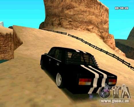 VAZ 2107 CRAMPES pour GTA San Andreas sur la vue arrière gauche