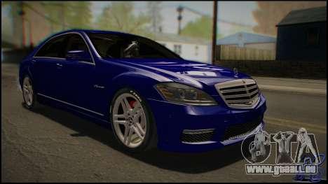Mercedes-Benz S65 AMG 2012 Road version pour GTA San Andreas laissé vue
