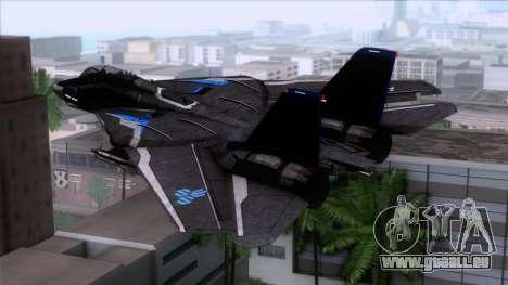F-14 Neon Blue Macross Frontier für GTA San Andreas linke Ansicht