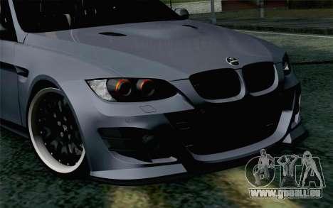 BMW M3 E90 Hamann pour GTA San Andreas vue arrière