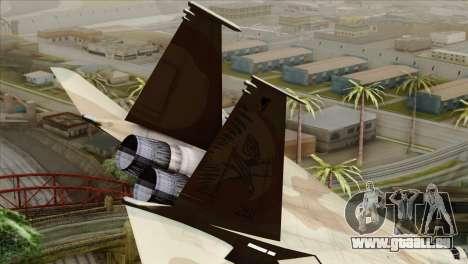 F-15E Strike Eagle Israeli Air Force pour GTA San Andreas sur la vue arrière gauche