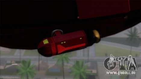 Shuttle v1 (no wheels) pour GTA San Andreas sur la vue arrière gauche