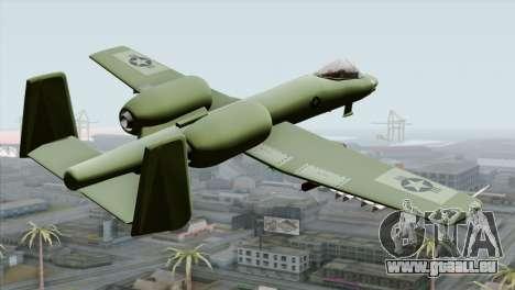 A-10 Warthog Shark Attack pour GTA San Andreas laissé vue