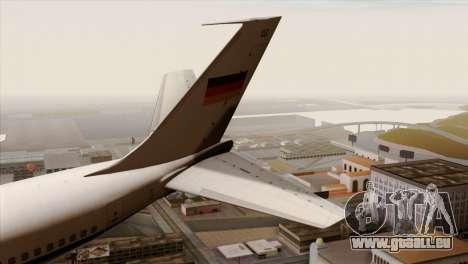 Boeing 707-300 Luftwaffe pour GTA San Andreas sur la vue arrière gauche