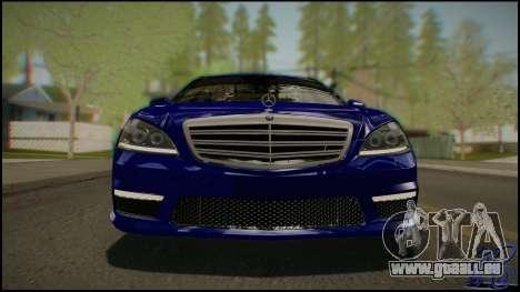 Mercedes-Benz S65 AMG 2012 Road version pour GTA San Andreas vue arrière