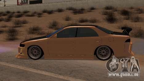 Toyota Mark II pour GTA San Andreas vue intérieure