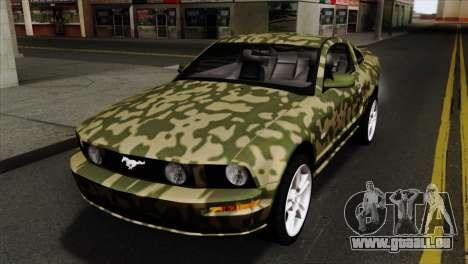Ford Mustang GT PJ Wheels 1 pour GTA San Andreas vue de côté