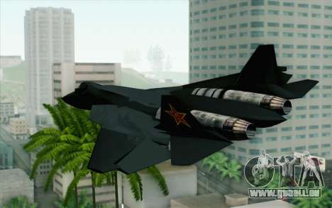 Sukhoi PAK-FA China Air Force für GTA San Andreas linke Ansicht