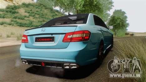 Mercedes-Benz E63 AMG 2010 Vossen wheels pour GTA San Andreas vue de droite