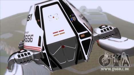 Shuttle v2 Mod 1 für GTA San Andreas Rückansicht