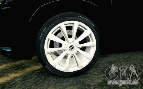 Lexus NX 200T v4 pour GTA San Andreas sur la vue arrière gauche