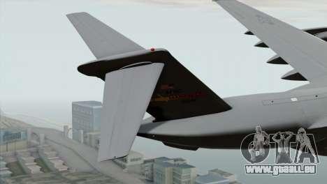 C-17A Globemaster III USAF March pour GTA San Andreas sur la vue arrière gauche