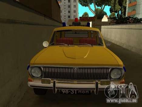 Volga 24-02 GAI pour GTA San Andreas sur la vue arrière gauche