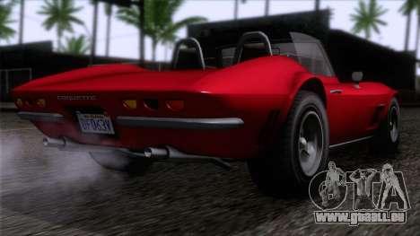 GTA 5 Invetero Coquette Classic TL IVF für GTA San Andreas linke Ansicht