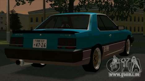 Nissan Skyline 2000 Turbo Intercooler RS-X kouki pour GTA San Andreas vue de droite