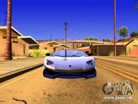 Lamborghini Aventador Novitec Torado für GTA San Andreas zurück linke Ansicht