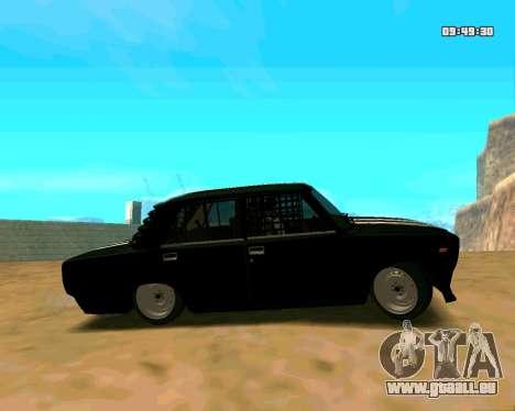 VAZ 2107 CRAMPES pour GTA San Andreas vue intérieure