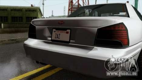 GTA 5 Vapid Stanier II SA Style pour GTA San Andreas vue arrière