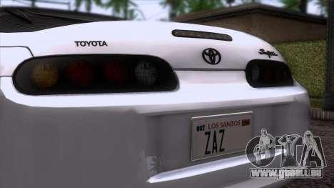 Toyota Supra US-Spec (JZA80) 1993 HQLM für GTA San Andreas Rückansicht