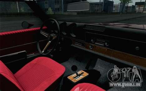 Oldsmobile 442 Holiday Coupe 1969 HQLM pour GTA San Andreas vue de droite