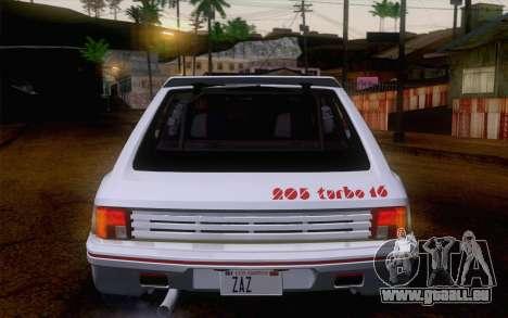 Peugeot 205 Turbo 16 1984 [IVF] pour GTA San Andreas vue de côté