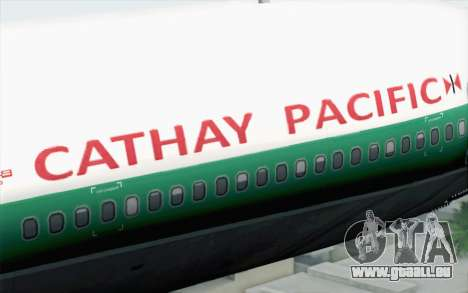Lookheed L-1011 Cathay P pour GTA San Andreas vue arrière