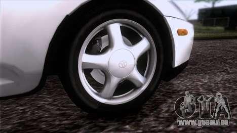 Toyota Supra US-Spec (JZA80) 1993 HQLM pour GTA San Andreas sur la vue arrière gauche