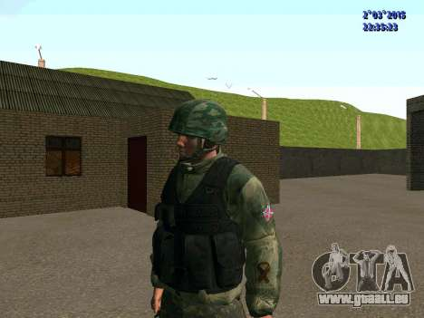 Guerrier bataillon à l'Est pour GTA San Andreas deuxième écran