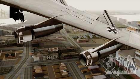 Boeing 707-300 Luftwaffe pour GTA San Andreas vue de droite