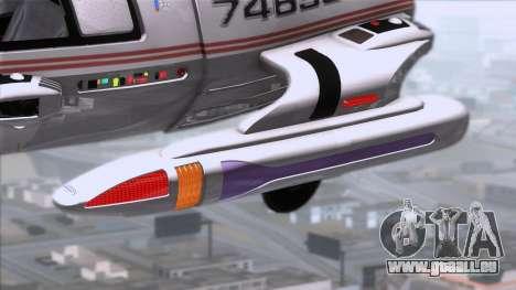 Shuttle v2 Mod 1 für GTA San Andreas zurück linke Ansicht