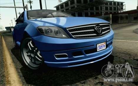 GTA 5 Benefactor Schafter pour GTA San Andreas vue arrière