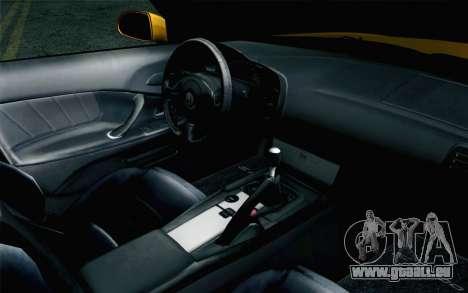 Honda S2000 Cabrio pour GTA San Andreas vue de droite