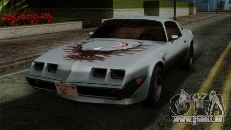 Pontiac Trans AM Interior pour GTA San Andreas