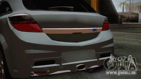 Opel Astra OPC Stock pour GTA San Andreas vue arrière