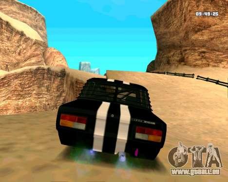 VAZ 2107 CRAMPES pour GTA San Andreas vue de droite