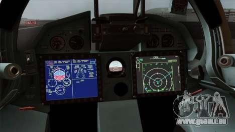 SU-37 UPEO für GTA San Andreas Rückansicht