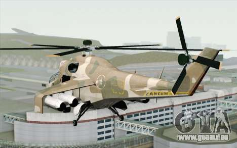 Savage GTA 5 v1.2 für GTA San Andreas linke Ansicht