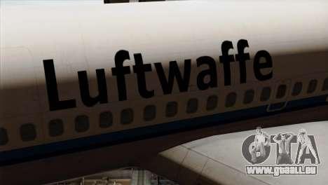 Boeing 707-300 Luftwaffe pour GTA San Andreas vue arrière