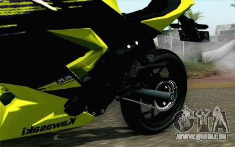 Kawasaki Ninja 250RR Mono Yellow pour GTA San Andreas vue de droite