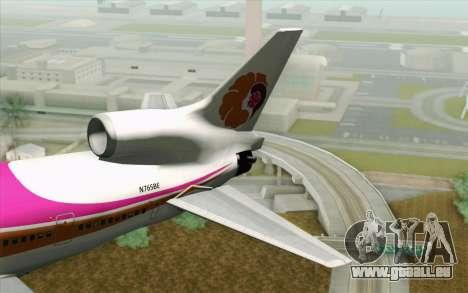 Lookheed L-1011 Hawaiian pour GTA San Andreas sur la vue arrière gauche