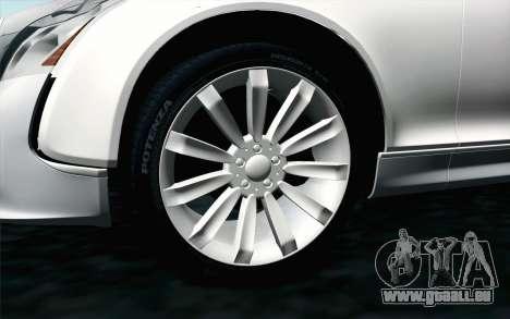 Maybach 57S Coupe Xenatec für GTA San Andreas zurück linke Ansicht